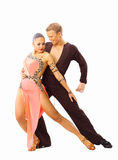 Dançarinos de encontro ao preto Imagens de Stock