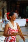 Dançarinos de Hula Fotos de Stock Royalty Free