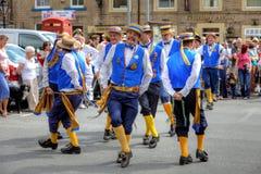 Dançarinos de Morris Fotografia de Stock