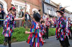 Dançarinos de morris novos, Hastings Fotos de Stock