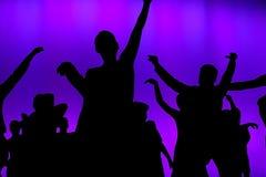 Dançarinos do concerto do clube Fotos de Stock Royalty Free
