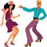 Dançarinos do disco ilustração royalty free