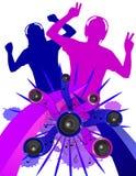 Dançarinos do Grunge sem fundo Foto de Stock