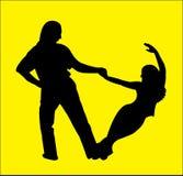 Dançarinos do Hustle Imagem de Stock Royalty Free