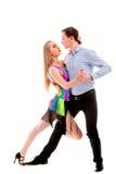 Dançarinos do Latino da elegância na ação Fotos de Stock