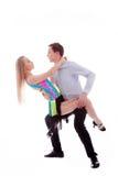 Dançarinos do Latino da elegância na ação Imagem de Stock Royalty Free
