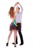 Dançarinos do Latino da elegância na ação Fotografia de Stock