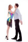 Dançarinos do Latino da elegância na ação Fotografia de Stock Royalty Free