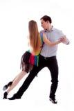Dançarinos do Latino da elegância na ação Imagens de Stock