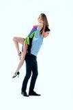Dançarinos do Latino de Coule na ação Foto de Stock Royalty Free