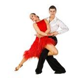 Dançarinos do Latino na ação fotografia de stock royalty free