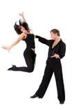 Dançarinos do Latino na ação imagens de stock