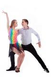 Dançarinos do Latino na ação Fotos de Stock Royalty Free