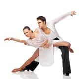 Dançarinos do Latino na ação. Isolado Foto de Stock Royalty Free