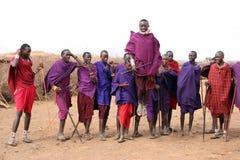 Dançarinos do Masai foto de stock