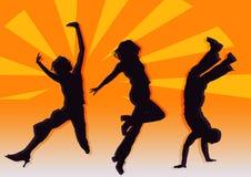 Dançarinos do partido foto de stock royalty free