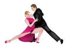 Dançarinos 2 do tango Imagem de Stock Royalty Free