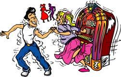 dançarinos dos anos 50 ilustração stock