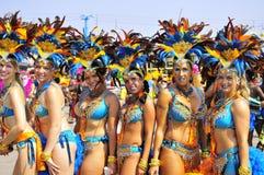 Dançarinos dourados Fotos de Stock Royalty Free