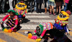 Dançarinos em Inti Raymi Festival, Cusco imagens de stock royalty free