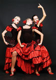 Dançarinos espanhóis imagem de stock