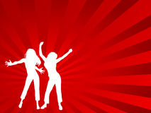Dançarinos fêmeas ilustração do vetor