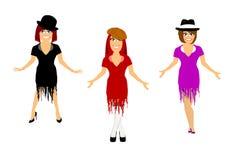 3 dançarinos fêmeas Fotografia de Stock
