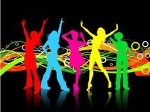 Dançarinos fêmeas ilustração royalty free