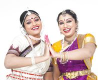 Dançarinos fêmeas clássicos indianos Imagem de Stock
