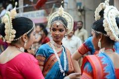 Dançarinos indianos Foto de Stock