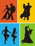 Dançarinos latino-americanos Foto de Stock Royalty Free