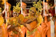Dançarinos malaios culturais Fotos de Stock