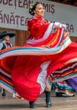 Dançarinos mexicanos no traje tradicional foto de stock
