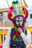 Dançarinos nativos de Equador imagens de stock