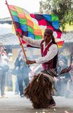 Dançarinos nativos de Equador fotografia de stock