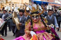 Dançarinos no carnaval de Oruro em Bolívia Foto de Stock Royalty Free