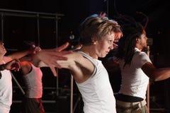 Dançarinos no estágio fotografia de stock royalty free