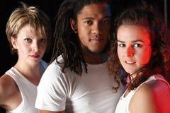 Dançarinos no estágio imagens de stock royalty free
