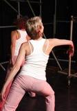 Dançarinos no estágio Imagem de Stock Royalty Free