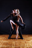 Dançarinos no salão de baile Foto de Stock