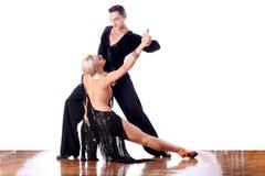 Dançarinos no salão de baile Fotos de Stock Royalty Free