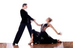 Dançarinos no salão de baile fotografia de stock