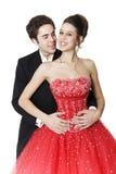 Dançarinos novos do salão de baile Fotos de Stock Royalty Free