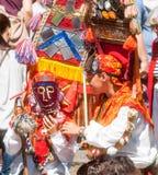 Dançarinos novos em Rose Festival em Karlovo bulgária Fotografia de Stock