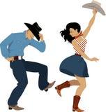 Dançarinos ocidentais do país Imagem de Stock