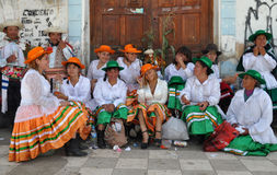 Dançarinos peruanos Fotografia de Stock