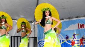 Dançarinos polinésios video estoque