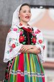 Dançarinos populares da cidade de Lowicz e de trajes tradicionais, Polan Fotos de Stock Royalty Free