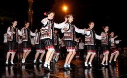 Dançarinos populares em Edirne em Turquia Fotos de Stock Royalty Free