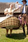 Dançarinos populares húngaros Fotos de Stock